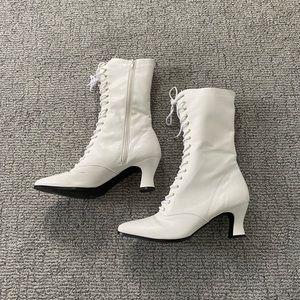 White Funtasma Victorian Boots